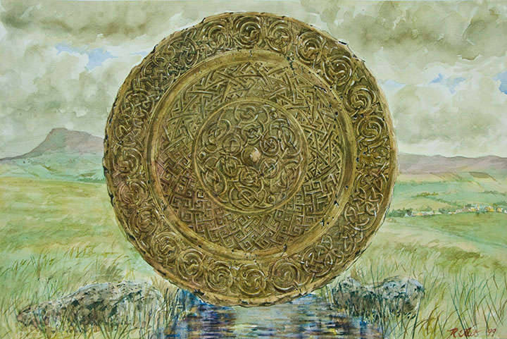 Ruth Tait Celtic Mandala in landscape